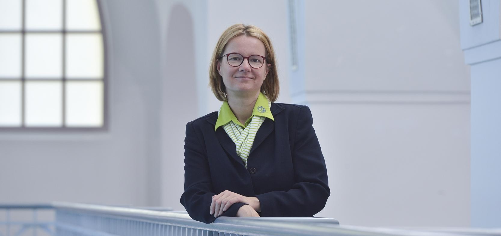 Geschäftsführerin Annette Engel-Adlung im Stadt-Bad Gotha. Foto: Lutz Ebhardt.