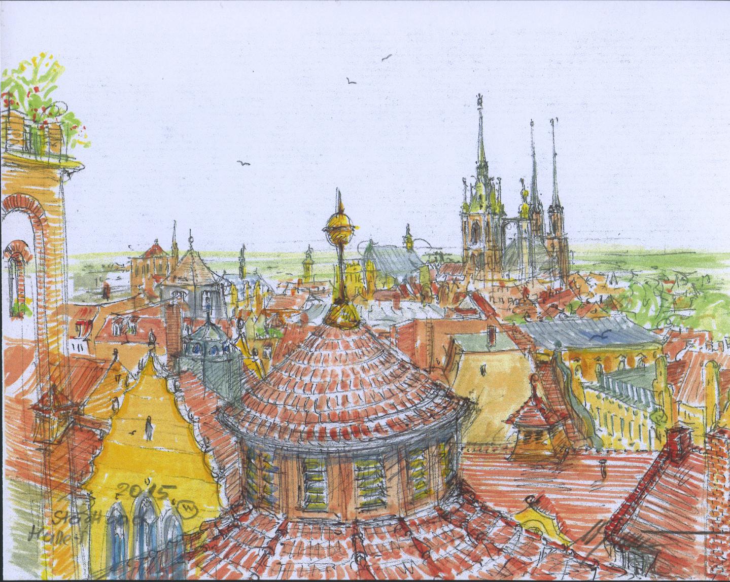 Vol. III - Wolfgang Grundwald - Das Stadtbad aus luftiger Höhe - Detail